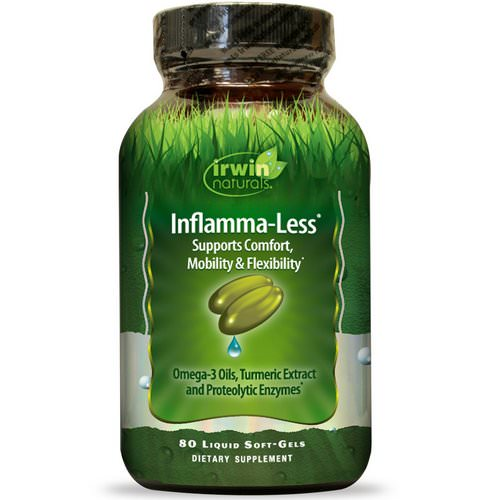 Irwin Naturals, Inflamma-Less, 80 Liquid Soft-Gels Review