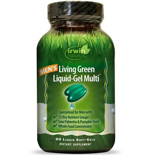 Irwin Naturals, Men's Living Green Liquid-Gel Multi, 90 Liquid Soft-Gels Review