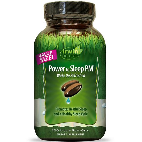 Irwin Naturals, Power to Sleep PM, 120 Liquid Soft-Gels Review
