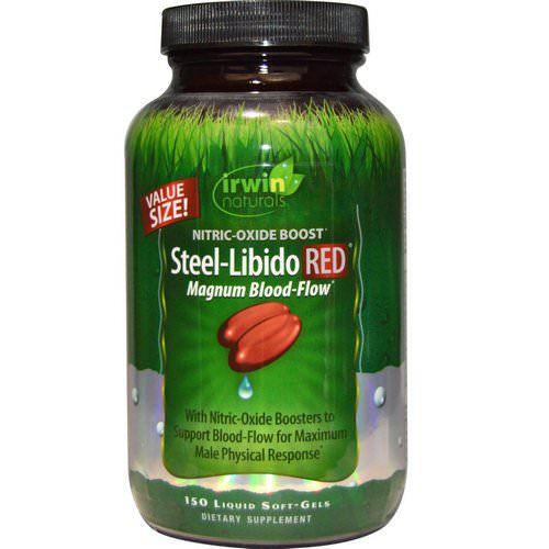 Irwin Naturals, Steel-Libido Red, Magnum Blood-Flow, 150 Liquid Soft-Gels Review