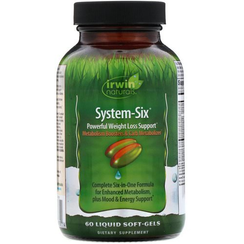 Irwin Naturals, System-Six, Powerful Weight Loss Support, 60 Liquid Soft-Gels Review