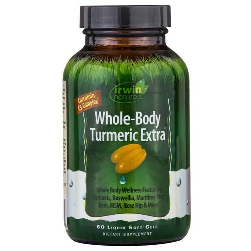 Irwin Naturals, Whole-Body Turmeric Extra, 60 Liquid Soft-Gels Review