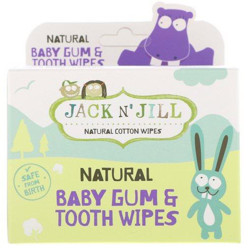 Jack n' Jill, Natural Baby Gum & Tooth Wipes, 25 Individually Wrapped Wipes Review
