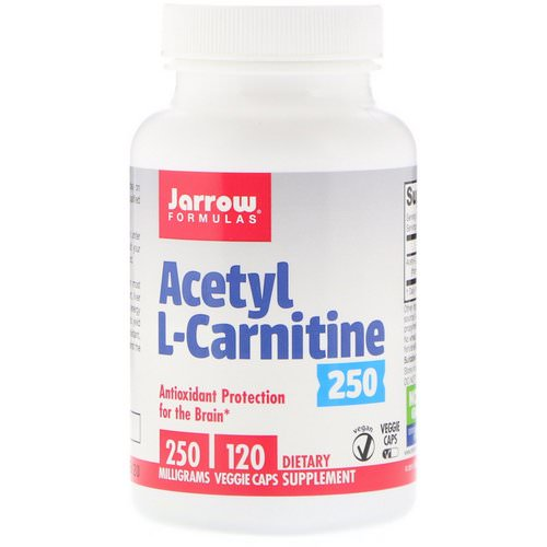 Jarrow Formulas, Acetyl L-Carnitine 250, 250 mg, 120 Veggie Caps Review