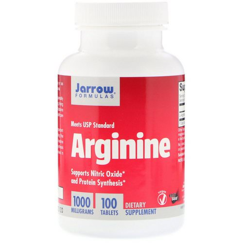 Jarrow Formulas, Arginine, 1000 mg, 100 Tablets Review