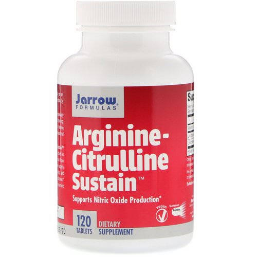 Jarrow Formulas, Arginine-Citrulline Sustain, 120 Tablets Review