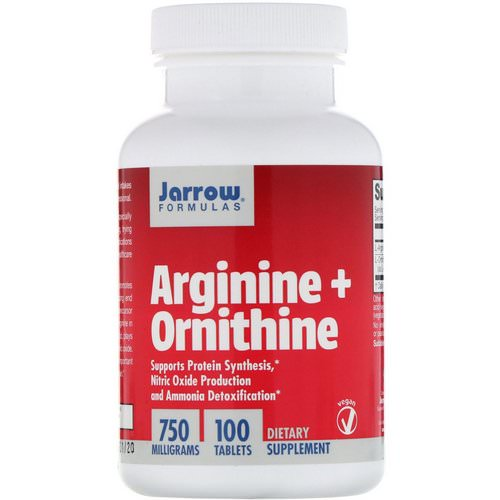Jarrow Formulas, Arginine + Ornithine, 750 mg, 100 Tablets Review