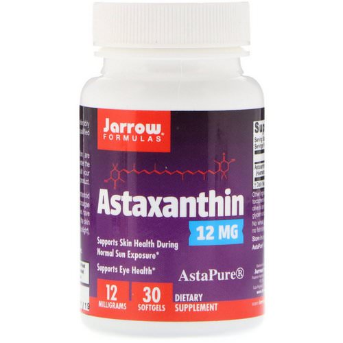 Jarrow Formulas, Astaxanthin, 12 mg, 30 Softgels Review