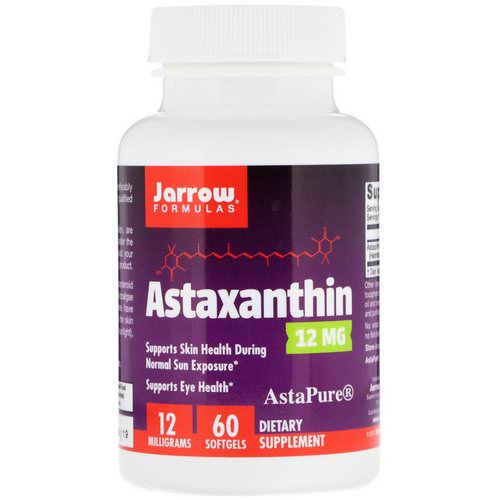 Jarrow Formulas, Astaxanthin, 12 mg, 60 Softgels Review