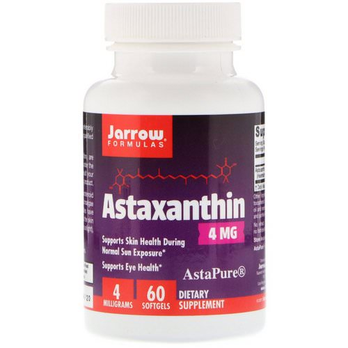 Jarrow Formulas, Astaxanthin, 4 mg, 60 Softgels Review