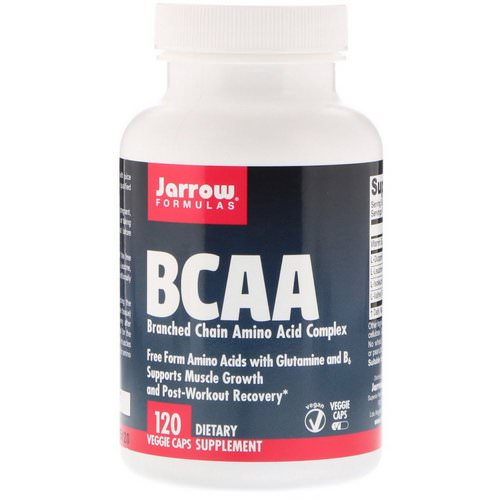 Jarrow Formulas, BCAA, Branched Chain Amino Acid Complex, 120 Veggie Caps Review