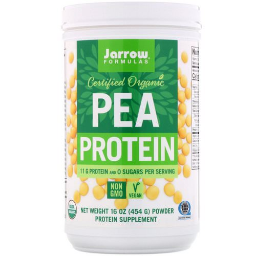 Jarrow Formulas, Certified Organic Pea Protein, 16 oz (454 g) Review