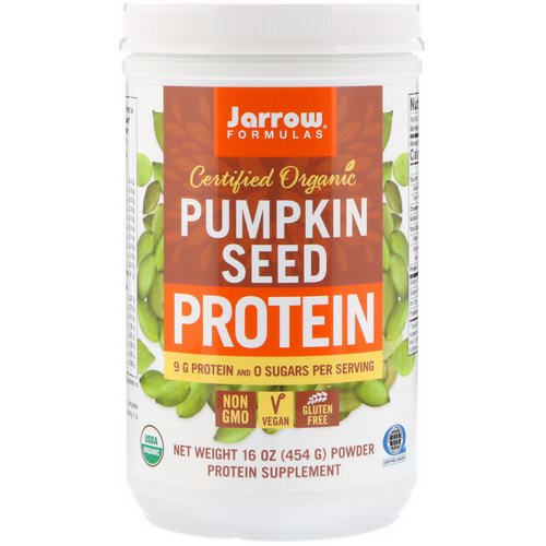 Jarrow Formulas, Certified Organic Pumpkin Seed Protein, 16 oz (454 g) Review