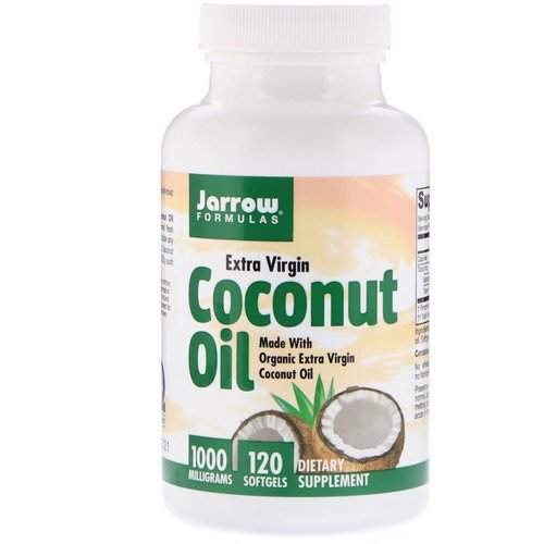 Jarrow Formulas, Coconut Oil, Extra Virgin, 1,000 mg, 120 Softgels Review