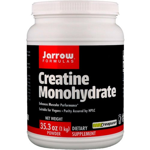 Jarrow Formulas, Creatine Monohydrate Powder, 2.20 lbs (1 kg) Review