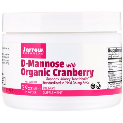Jarrow Formulas, D-Mannose with Organic Cranberry, 2.9 oz (81 g) Review
