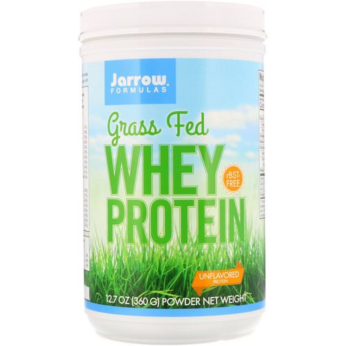 Jarrow Formulas, Grass Fed Whey Protein, Unflavored, 12.7 oz (360 g) Review