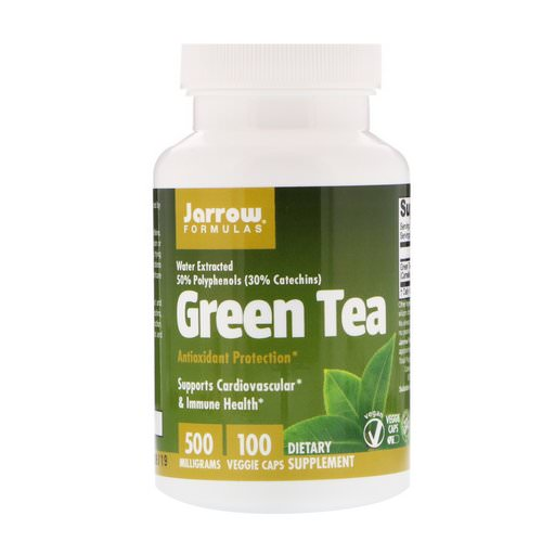 Jarrow Formulas, Green Tea, 500 mg, 100 Veggie Caps Review