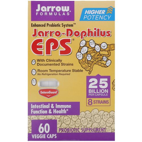 Jarrow Formulas, Jarro-Dophilus EPS, 25 Billion, 60 Veggie Caps Review