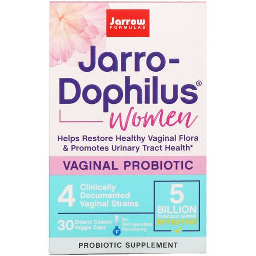 Jarrow Formulas, Jarro-Dophilus, Vaginal Probiotic, Women, 5 Billion, 30 Enteric Coated Veggie Caps Review
