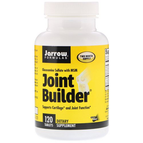 Jarrow Formulas, Joint Builder, Glucosamine Sulfate With MSM, 120 Tablets Review