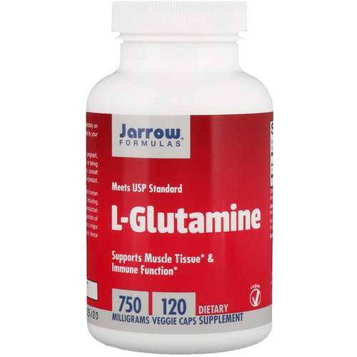 Jarrow Formulas, L-Glutamine, 750 mg, 120 Veggie Caps Review