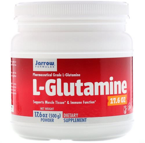 Jarrow Formulas, L-Glutamine Powder, 1.1 lbs (500 g) Review