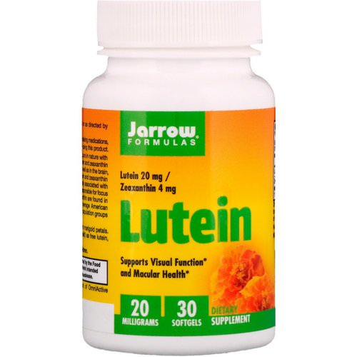 Jarrow Formulas, Lutein, 20 mg, 30 Softgels Review