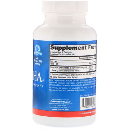 DHA, Omegas EPA DHA, Fish Oil, Supplements