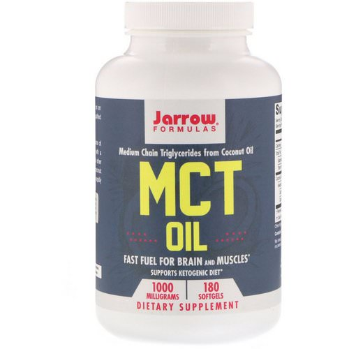 Jarrow Formulas, MCT Oil, 1000 mg, 180 Softgels Review