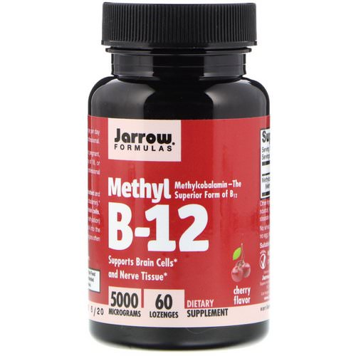 Jarrow Formulas, Methyl B-12, Cherry Flavor, 5000 mcg, 60 Lozenges Review