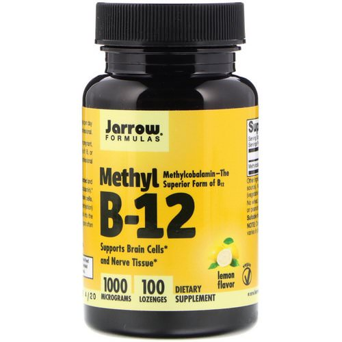 Jarrow Formulas, Methyl B-12, Lemon Flavor, 1000 mcg, 100 Lozenges Review