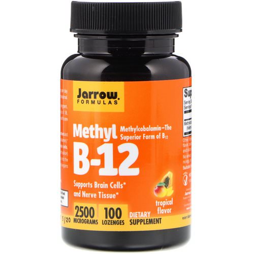 Jarrow Formulas, Methyl B-12, Tropical Flavor, 2500 mcg, 100 Lozenges Review