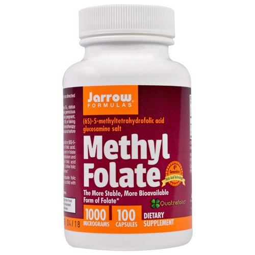 Jarrow Formulas, Methyl Folate, 1000 mcg, 100 Capsules Review