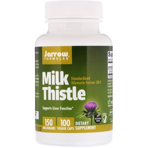 Jarrow Formulas, Milk Thistle, 150 mg, 100 Veggie Caps Review