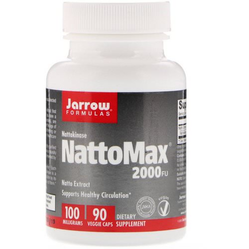 Jarrow Formulas, NattoMax 2000 FU, 100 mg, 90 Veggie Caps Review