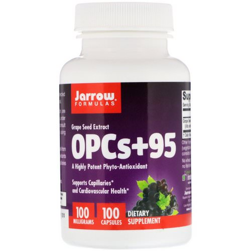 Jarrow Formulas, OPCs + 95, Grape Seed Extract, 100 mg, 100 Capsules Review