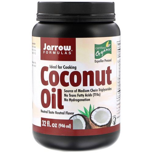 Jarrow Formulas, Organic Coconut Oil, Expeller Pressed, 32 fl oz (946 ml) Review