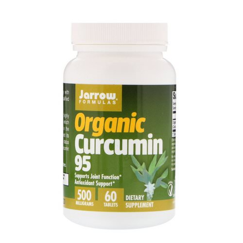 Jarrow Formulas, Organic Curcumin 95, 500 mg, 60 Tablets Review