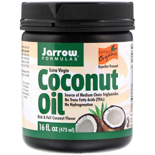 Jarrow Formulas, Organic Extra Virgin Coconut Oil, Expeller Pressed, 16 fl oz (473 g) Review