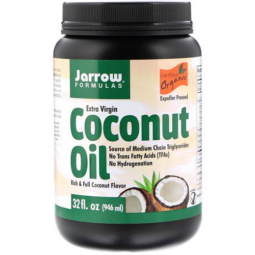 Jarrow Formulas, Organic Extra Virgin Coconut Oil, Expeller Pressed, 32 fl oz (946 ml) Review