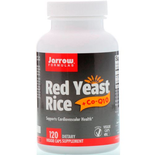 Jarrow Formulas, Red Yeast Rice + Co-Q10, 120 Veggie Caps Review