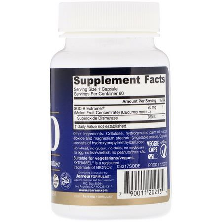 Superoxide Dismutase SOD, Antioxidants, Supplements