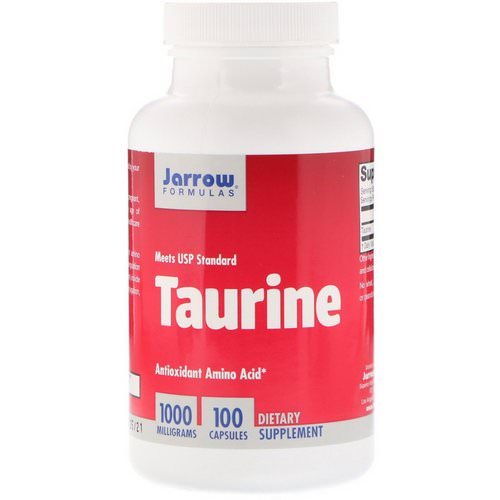 Jarrow Formulas, Taurine, 1000 mg, 100 Capsules Review