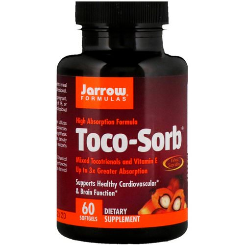 Jarrow Formulas, Toco-Sorb, Mixed Tocotrienols and Vitamin E, 60 Softgels Review