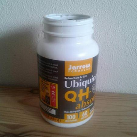 Jarrow Formulas, Ubiquinol, QH-Absorb, 100 mg, 60 Softgels Review