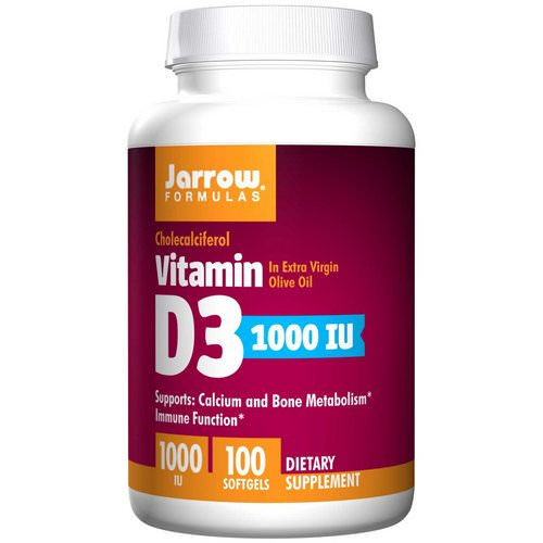 Jarrow Formulas, Vitamin D3, Cholecalciferol, 1,000 IU, 100 Softgels Review