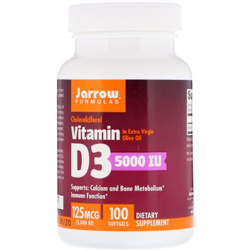 Jarrow Formulas, Vitamin D3, Cholecalciferol, 5,000 IU, 100 Softgels Review