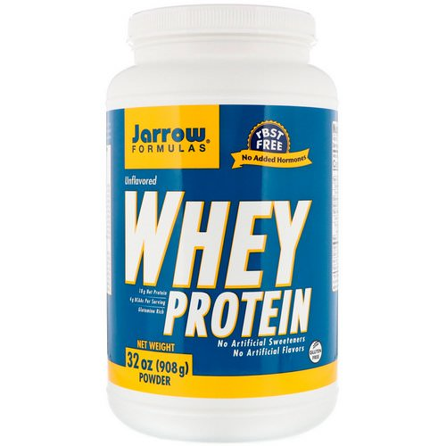 Jarrow Formulas, Whey Protein, Unflavored, 2 lbs (908 g) Review