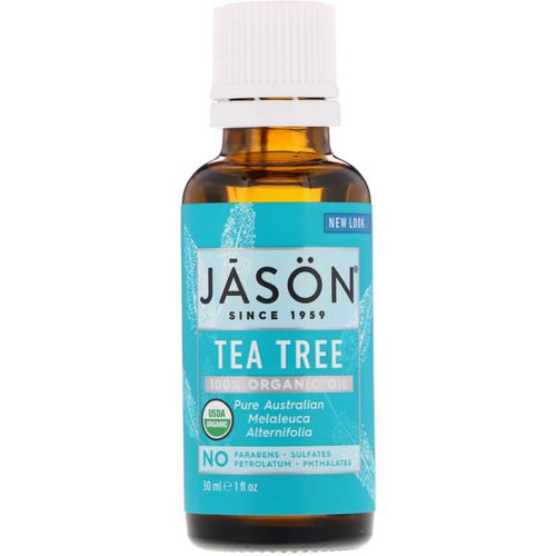 Jason Natural, 100% Organic Oil, Tea Tree, 1 fl oz (30 ml) Review